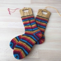 Cut in heel. Nomadic Yarns in Rhinebeck Sweater Weather